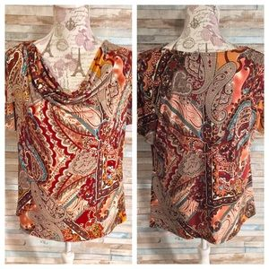 Dressbarn Cowlneck Dress Blouse Size Large